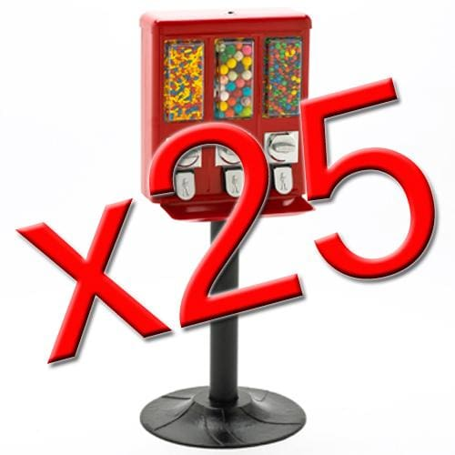 25 All Metal Triple Vending Machines - Gumball Machine Warehouse