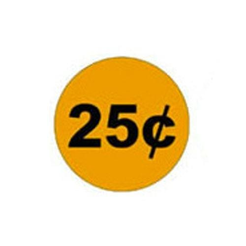 25 Cent Price Decal (Set Of 4) - Gumball Machine Warehouse