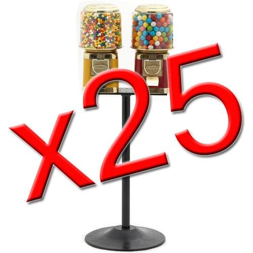 25 Double All Metal Gumball Machines - Gumball Machine Warehouse