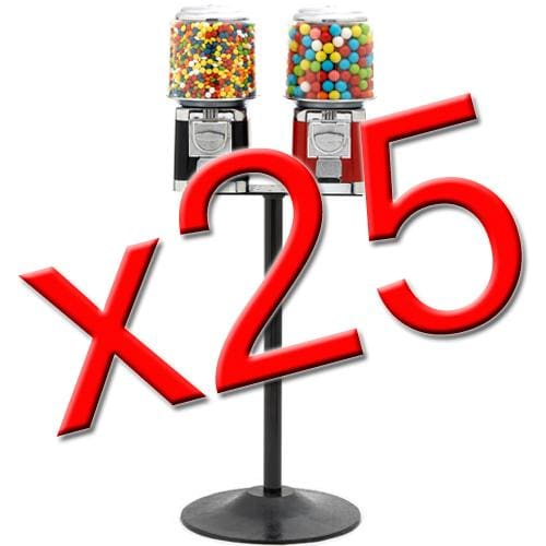 25 Double Classic Gumball Machines - Gumball Machine Warehouse