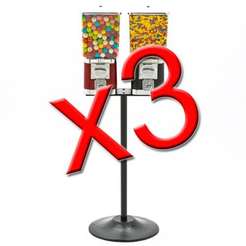 3 Double Supreme Gumball Machines - Gumball Machine Warehouse