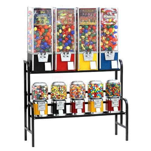4 Toy Capsules & 5 Classic Machines Combo Rack - Gumball Machine Warehouse