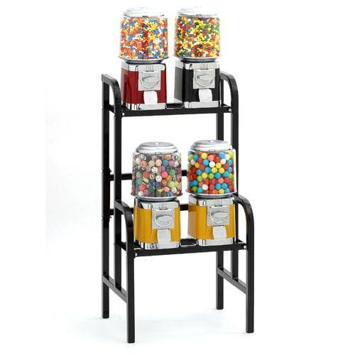 4-Unit Gumball & Bulk Candy Vending Rack - Gumball Machine Warehouse