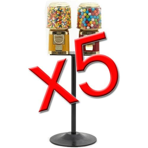 5 Double All Metal Gumball Machines - Gumball Machine Warehouse