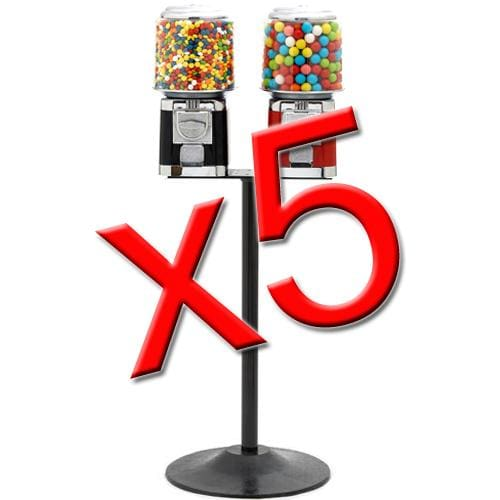 5 Double Classic Gumball Machines - Gumball Machine Warehouse