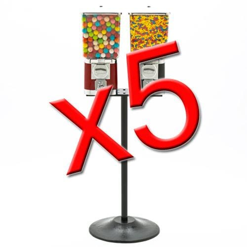 5 Double Supreme Gumball Machines - Gumball Machine Warehouse