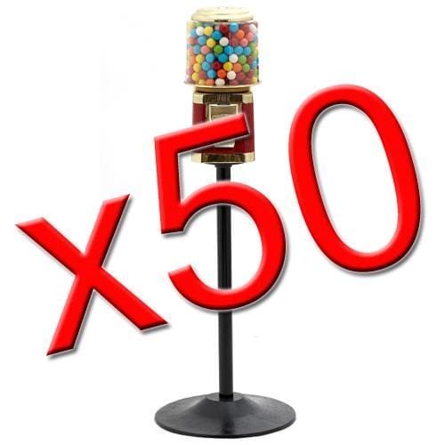 50 All Metal Gumball Machines W/ Stands - Gumball Machine Warehouse