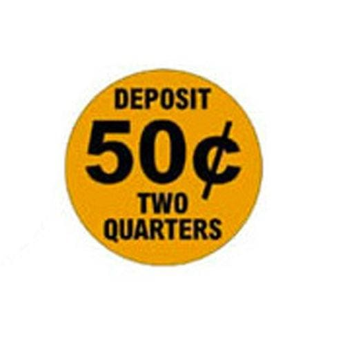 50 Cent Price Decal (Set Of 4) - Gumball Machine Warehouse