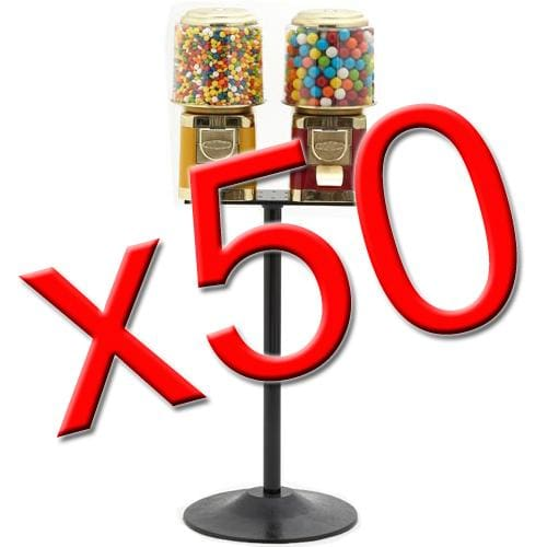 50 Double All Metal Gumball Machines - Gumball Machine Warehouse