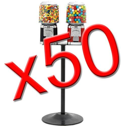 50 Double Classic Gumball Machines - Gumball Machine Warehouse