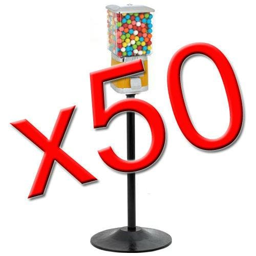 50 Supreme Gumball / Candy Machines W/ Stands - Gumball Machine Warehouse