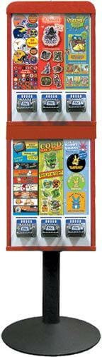 6 Column Sticker Machine - Gumball Machine Warehouse