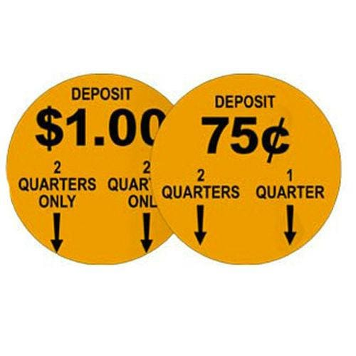 75 Cent Or $1.00 Price Decal (Set Of 2) - Gumball Machine Warehouse