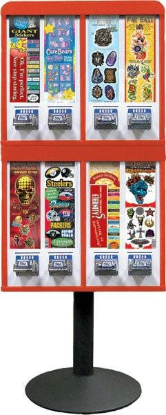 8 Stack Column Sticker & Tattoo Machine W/ Stand - Gumball Machine Warehouse