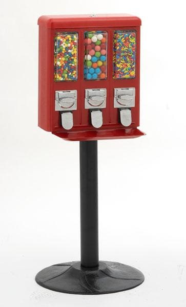 All Metal Triple Vending Machine - Gumball Machine Warehouse