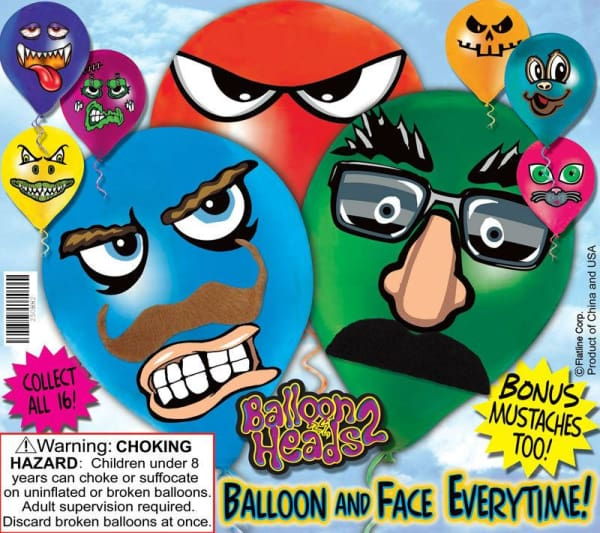 Balloon Heads 2 Vending Toys In Capsules - Gumball Machine Warehouse