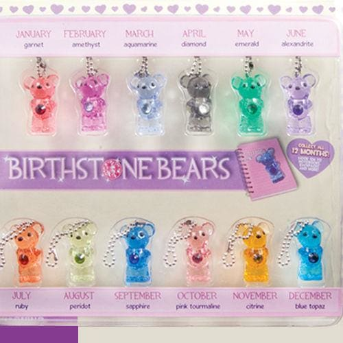 Birthstone Bears In 2 Inch Capsules - Gumball Machine Warehouse