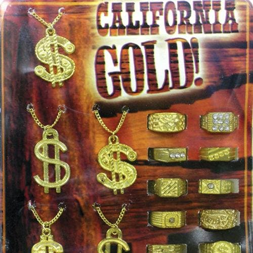 California Gold! Necklaces & Rings In 1 Inch Toy Capsules - Gumball Machine Warehouse