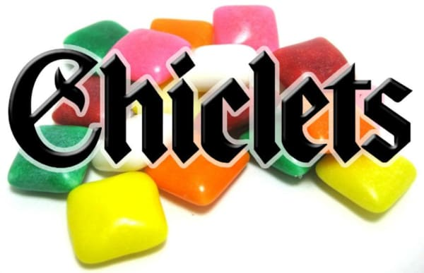Chiclets Vending Machine Label - Gumball Machine Warehouse