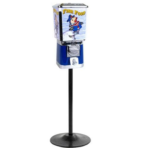Coin Operated Fish Food Dispenser With Stand - Gumball Machine Warehouse