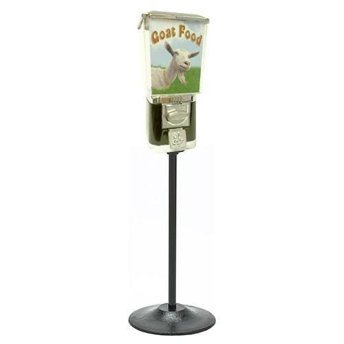 Coin Operated Goat Food Dispenser With Stand - Gumball Machine Warehouse