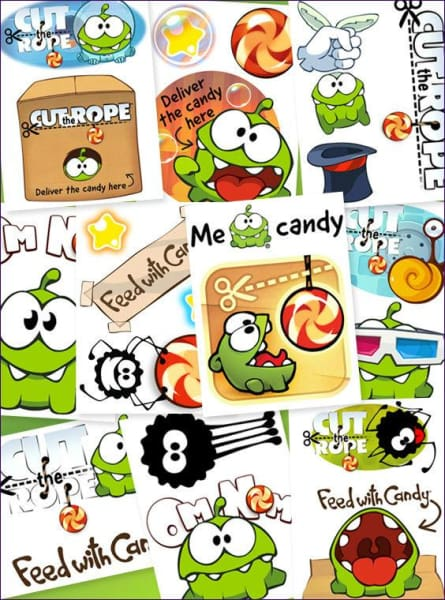 Cut The Rope Vending Tattoos - Gumball Machine Warehouse