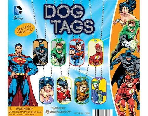 Dc Comics Dog Tags In 2 Inch Capsules - Gumball Machine Warehouse