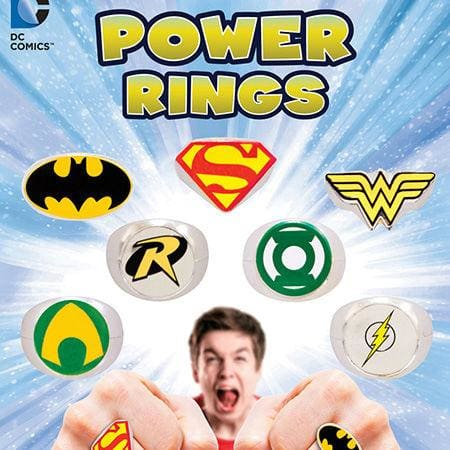 Dc Comics Power Rings In 1 Inch Toy Capsules - Gumball Machine Warehouse