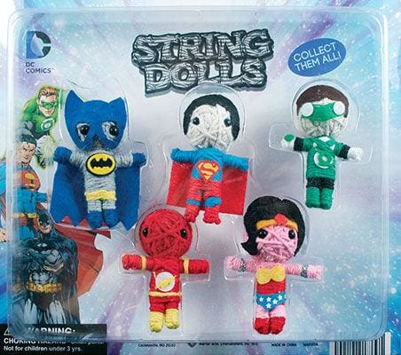 Dc Comics String Dolls In 2 Inch Toy Capsules - Gumball Machine Warehouse