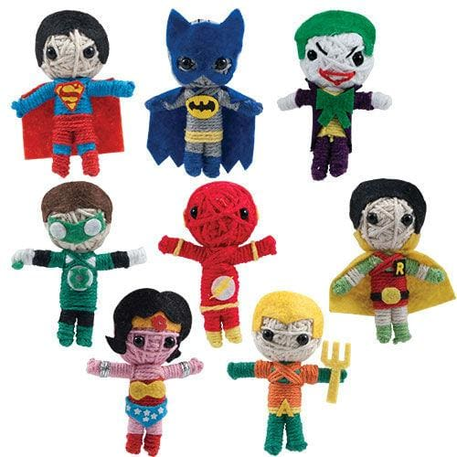 Dc Comics String Dolls (Set Of 8) - Gumball Machine Warehouse