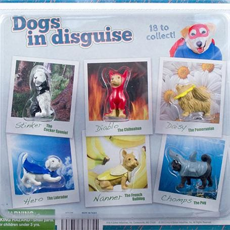 Dogs In Disguise Figurines In 2 Inch Toy Capsules - Gumball Machine Warehouse