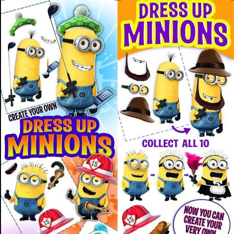Dress Up Minions Stickers - Gumball Machine Warehouse