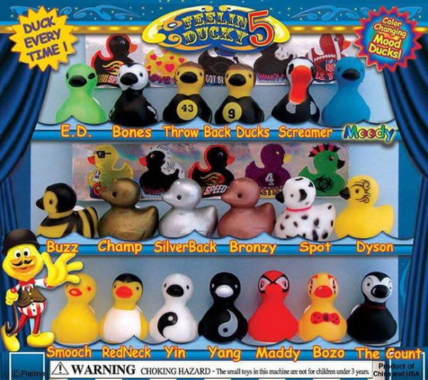 Ducks 5 Vending Toys In Capsules ($1 Vend) - Gumball Machine Warehouse
