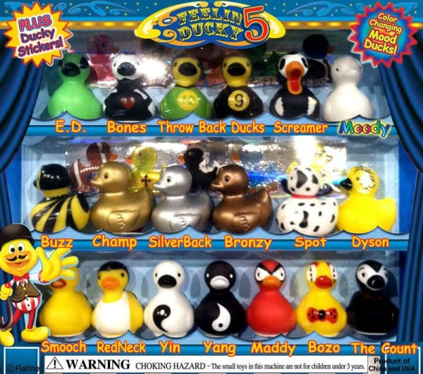 Ducks 5 Vending Toys In Capsules - Gumball Machine Warehouse