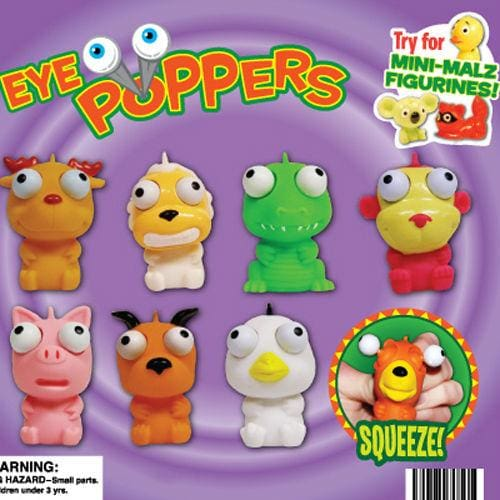 Eye Poppers With Mini Malz Mix Vending Toys In 2 Inch Toy Capsules - Gumball Machine Warehouse