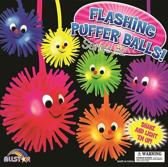 Flashing Puffer Balls #2 In 2 Inch Toy Capsules - Gumball Machine Warehouse