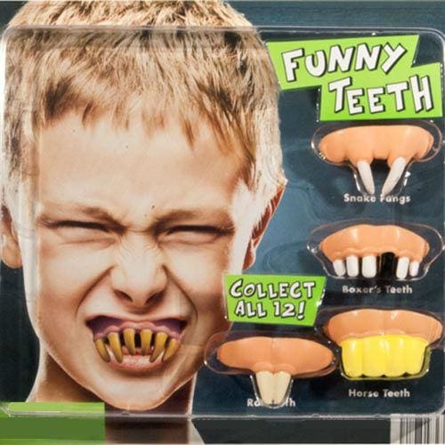 Funny Teeth In 2 Inch Toy Capsules - Gumball Machine Warehouse