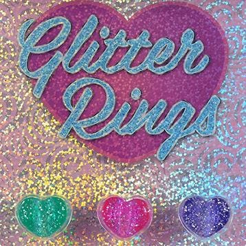 Glitter Heart Rings In 1 Inch Toy Capsules - Gumball Machine Warehouse