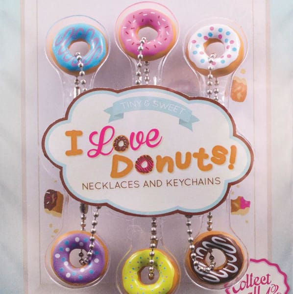 I Love Donuts! Keychains In 1 Inch Toy Capsules - Gumball Machine Warehouse