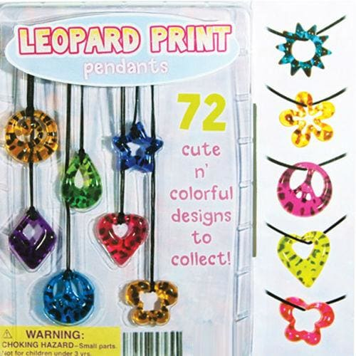Leopard Print Pendants In 2 Inch Toy Capsules - Gumball Machine Warehouse