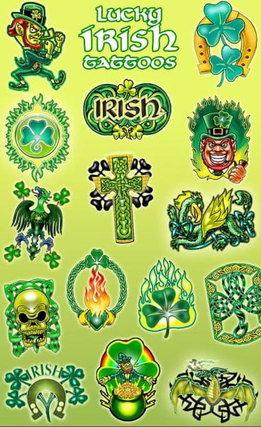 Lucky Irish Vending Tattoos - Gumball Machine Warehouse