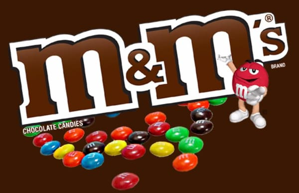 M & Ms Candy Machine Label - Gumball Machine Warehouse