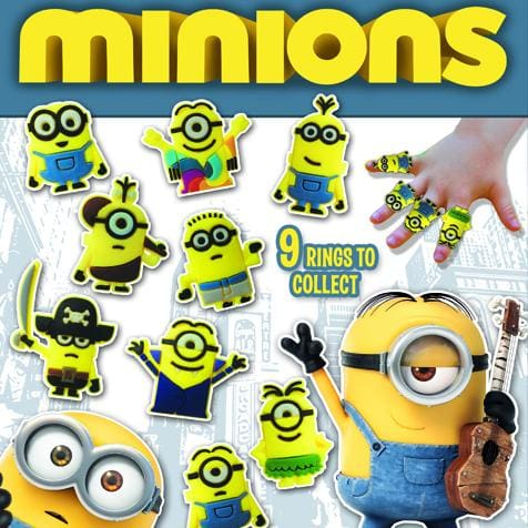 Minion Rings Vending Toys In 2 Inch Toy Capsules - Gumball Machine Warehouse