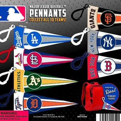 Mlb Pennant Clips In 2 Inch Toy Capsules - Gumball Machine Warehouse
