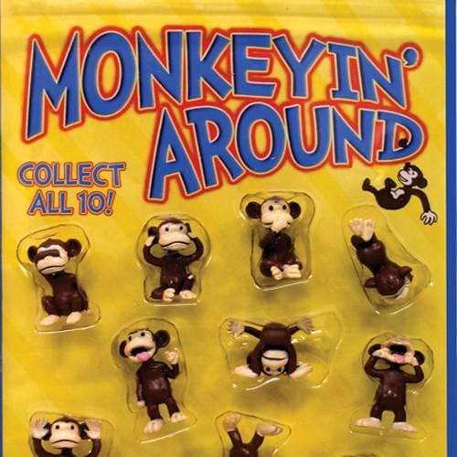 Monkeyin Around Figurines In 2 Inch Toy Capsules - Gumball Machine Warehouse