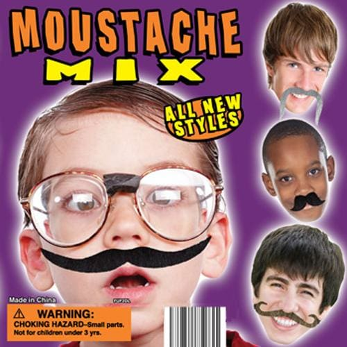 Moustache Mix In 2 Inch Toy Capsules - Gumball Machine Warehouse