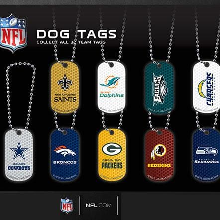 Nfl Football Dog Tags In 2 Inch Toy Capsules - Gumball Machine Warehouse