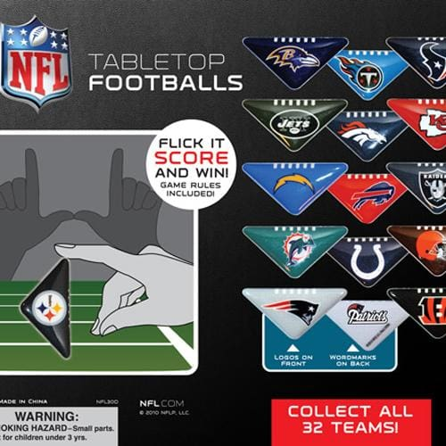 Nfl Table Top Footballs In 2 Inch Toy Capsules - Gumball Machine Warehouse