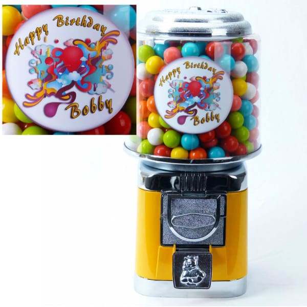 Personalized Birthday Gumball Machine - Gumball Machine Warehouse