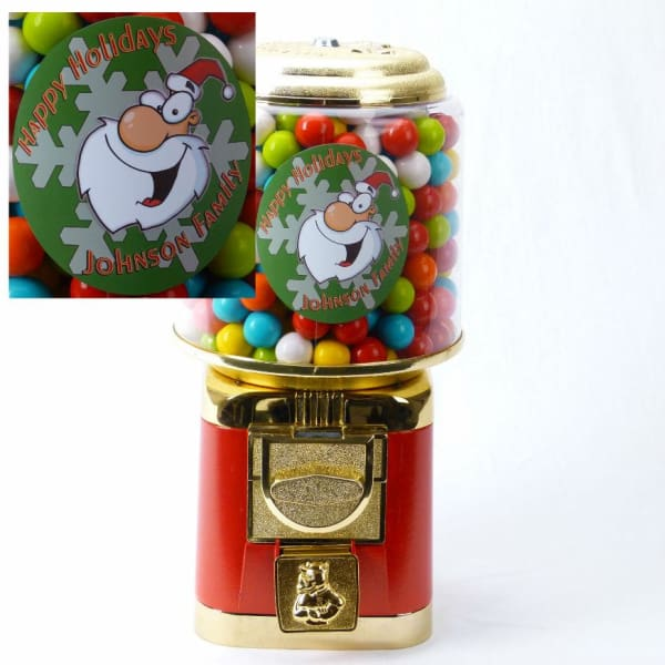 Personalized Christmas Gumball Machine - Gumball Machine Warehouse